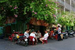 Group of senior man coffee shop Royalty Free Stock Photos