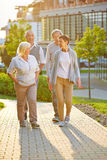 Group of senior people in city Royalty Free Stock Photography