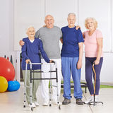 Group of senior people in physiotherapy Royalty Free Stock Photos