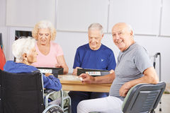 Group of senior people playing game Royalty Free Stock Images