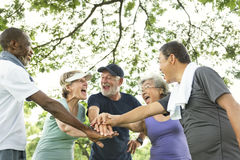 Group Of Senior Retirement Exercising Togetherness Concept Stock Images