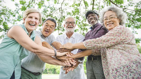 Group Of Senior Retirement Exercising Togetherness Concept. Group Of Senior Retirement Exercising Together Concept Stock Photography