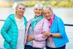 Group of senior women smiling Royalty Free Stock Photography