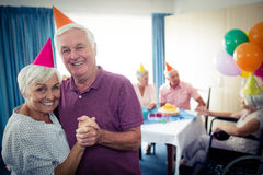 Group of seniors celebrating a birthday Stock Photography