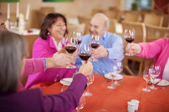 Group of seniors saying cheers Royalty Free Stock Photography