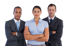 Group of serious business people standing together Stock Images