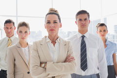 Group of serious business team standing together Royalty Free Stock Photo