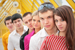 Group of serious young persons Stock Photos