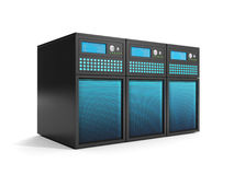 Group of servers in close-up Royalty Free Stock Images