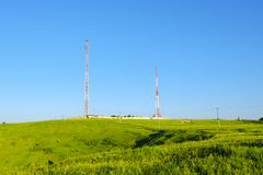 Cell Towers royalty free stock photos