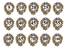 Group set Ribbons  vector number party Stock Photo