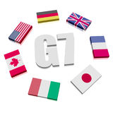 Group of Seven Flags Royalty Free Stock Images