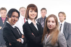 A group of seven young business people Stock Photography