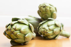 Group of several artichokes front Royalty Free Stock Image