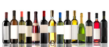 Group of several bottles Stock Image