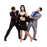 Group of sexy business people Stock Photo