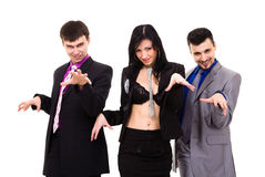 Group of sexy business people Stock Images