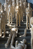 Group of plastered women sculptures in a museum in Shanghai Stock Images