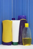 Group of Shampoo bottles Stock Image