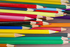 Group of sharp colored pencils Stock Photo
