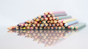 Group of sharp colored pencils Royalty Free Stock Image
