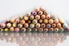 Group of sharp colored pencils Royalty Free Stock Photos