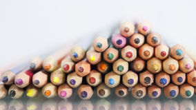 Group of sharp colored pencils Stock Photography