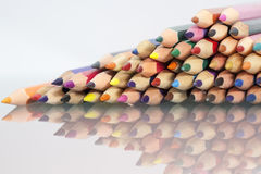 Group of sharp colored pencils Royalty Free Stock Photography