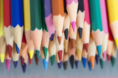 Group of sharp colored pencils Royalty Free Stock Photo