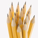 Group of sharp pencils. Stock Photos
