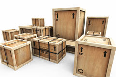 Group of Shipping Crates Stock Images