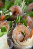 Group  shirmp crepe green salad Stock Photography