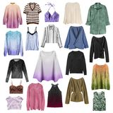 Group of shirts isolated stock image