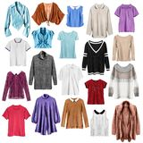Group of shirts isolated royalty free stock photography