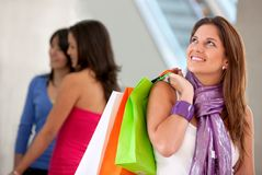 Group of shoppers Royalty Free Stock Photos