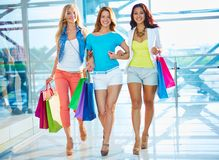 Group of shoppers Stock Images