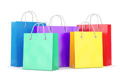 Group of shopping bags on white background Royalty Free Stock Images