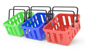 Group of shopping baskets Royalty Free Stock Images