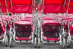 A group of shopping carts Stock Photos