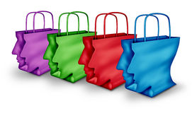 Group Shopping Stock Photo