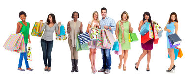 Group of shopping customers. Stock Photography