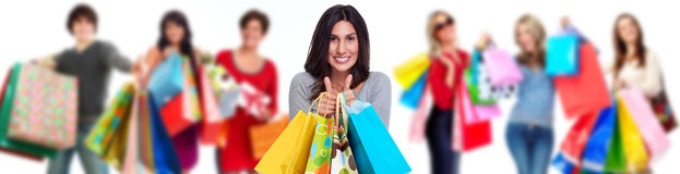 Group of shopping customers Stock Images