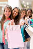 Group of shopping friends Royalty Free Stock Photography