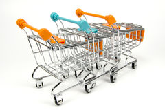 Group of Shopping Trolley`s royalty free stock photos