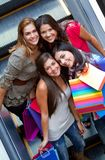 Group of shopping women Royalty Free Stock Images