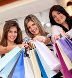 Group of shopping women Royalty Free Stock Image