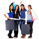 Group of shopping women Stock Image