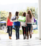 Group of shopping women Stock Photo