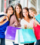 Group of shopping women Stock Photos