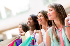 Group of shopping Royalty Free Stock Image